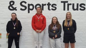 2016 BRC Newcastle Foil U20 Ladies:  Bronwen Granville (l), Rhiannon Granville (2nd from right)