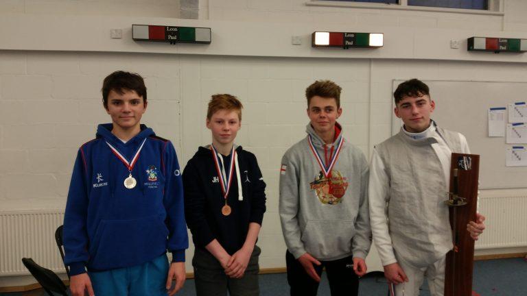 U16 Mens Foil: Bronze Medallist Ollie Goodenough